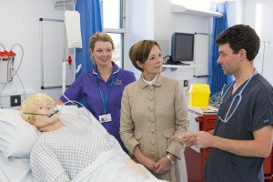 The Duchess of Northumberland with Alison Matthews and Dr James McFetrich